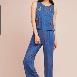 Anthropologie Critter beaded jumpsuit, S